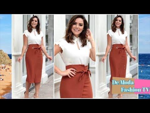 el más nuevo 16ea9 bd0a8 New Outfits Idea con Faldas y Blusas - MODA 2018