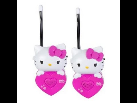 hello kitty walkie talkie jouets pour les enfants youtube. Black Bedroom Furniture Sets. Home Design Ideas
