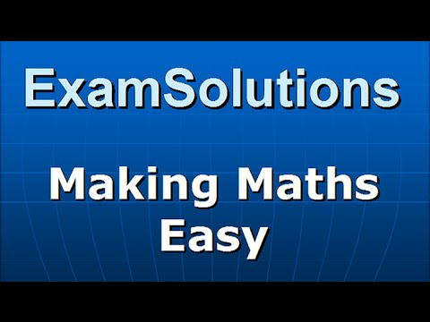Edexcel C3 Core Maths June 2014 Q5(c) method 1 : ExamSolutions Maths Revision
