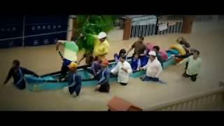 heavy Rain# flood in Mangalore # with Raja Rani Emotional music
