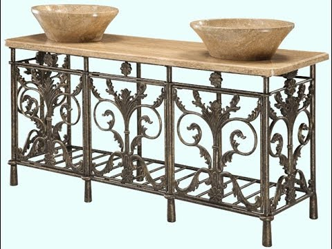 Gentil Wrought Iron Bathroom Vanity,