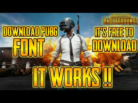 How To Download PUBG Font For Free !? For Android/IOS/PC/MAC!