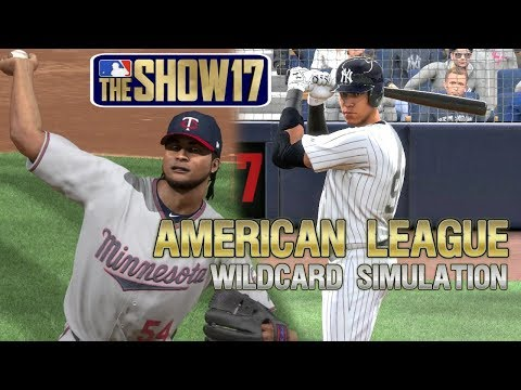 MLB The Show 17 | 2017 American League Wildcard Playoff Sim Minnesota Twins vs New York Yankees