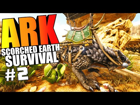 ARK Scorched Earth - THORNY DRAGON TAMING, DESERT OUTFIT, EXPLORING - ARK Survival Evolved Gameplay