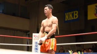NKBウェルター級王者、竹村哲選手の引退セレモニー、涙の10カウントです。