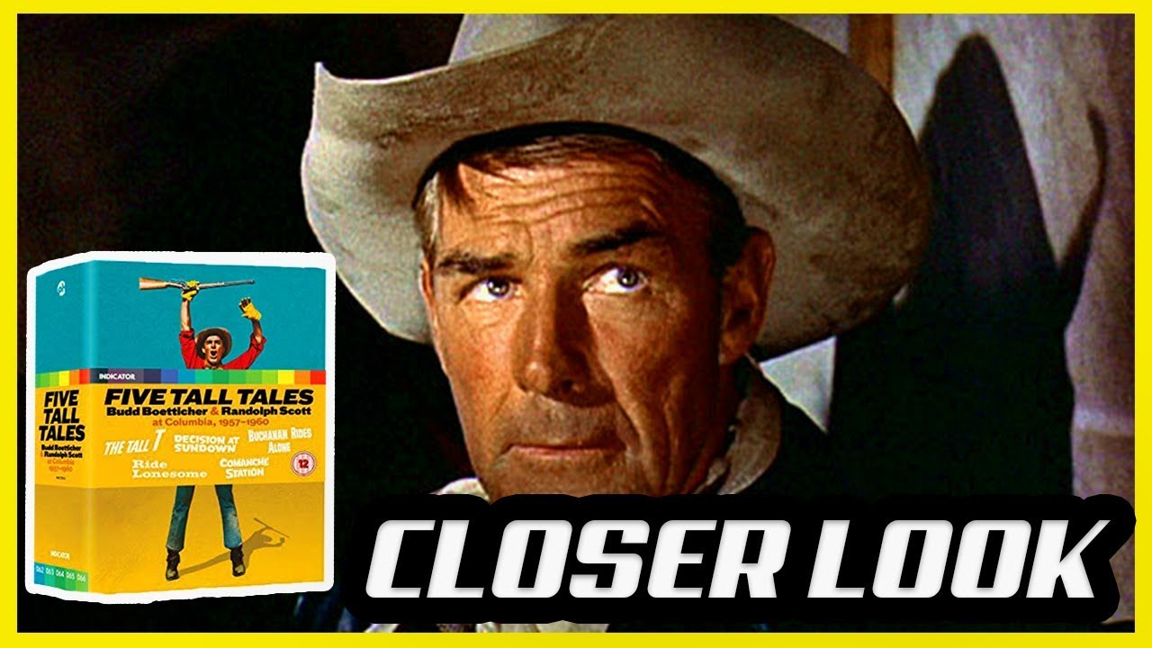 Download Five Tall Tales Randolph Scott & Budd Boetticher  Indicator Blu-Ray Box Set Unboxing Closer Look