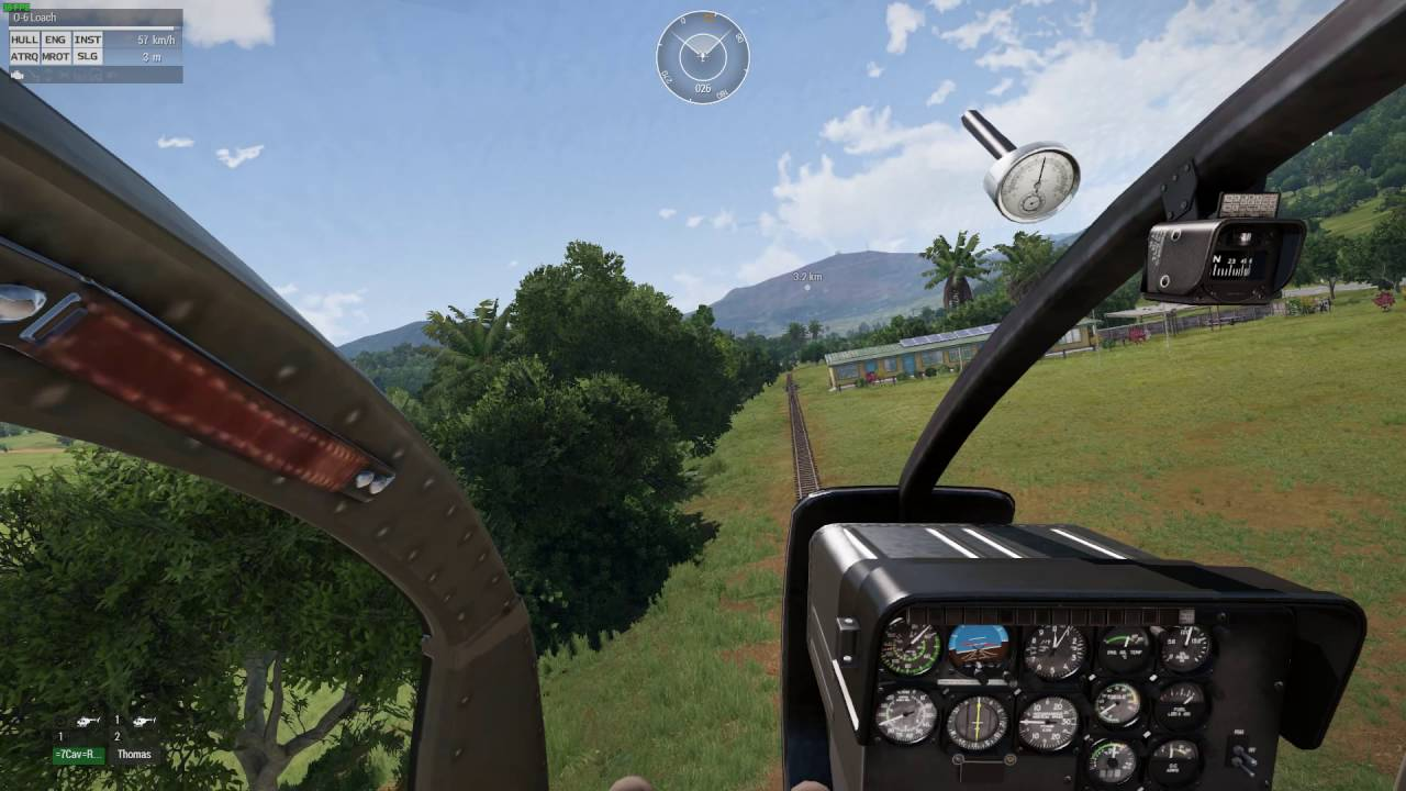 Arma 3 - Air Cav Vietnam - Practising in the OH-6A Loach