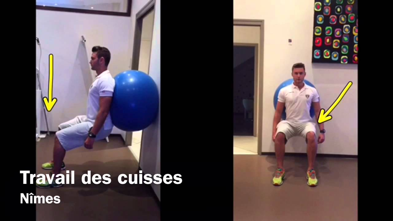 Travail des cuisses muscles ant rieurs quadriceps et for Exercices pour interieur des cuisses