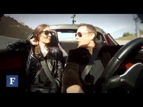 Driving a Tesla Roadster with Elon Musk