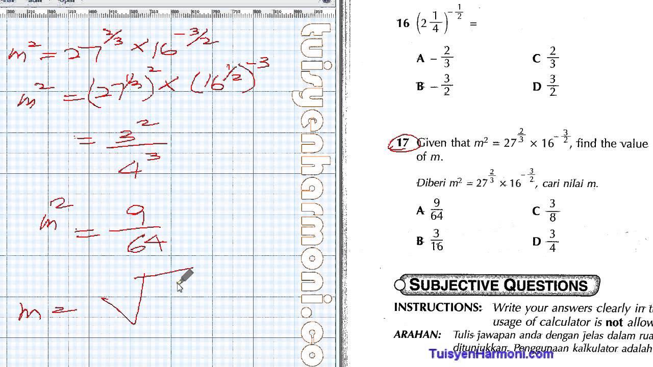 Latihan Linear Equation Form 3 Tessshebaylo