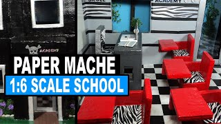Doll Crafts | How To Make A Monster High Doll School & Dorm