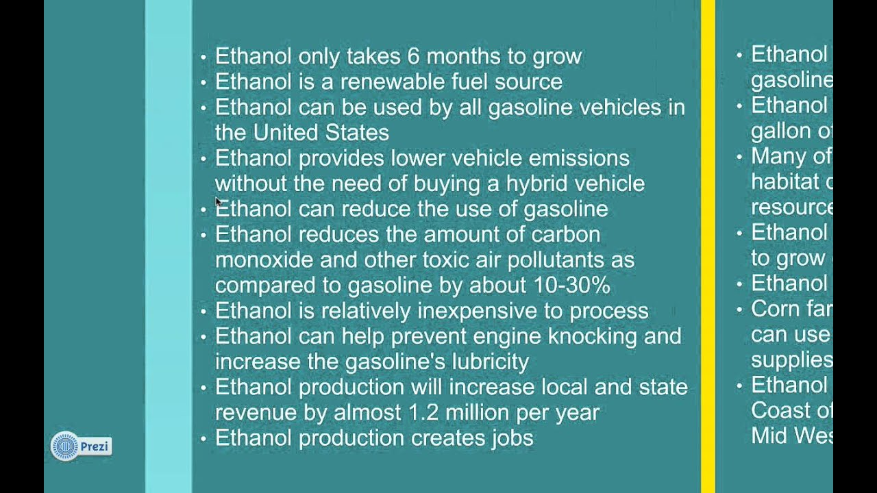Isaac And Micah Pros And Cons Of Ethanol Production Screencast Youtube