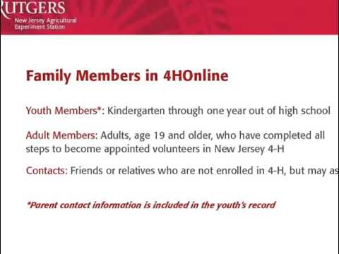 Enrolling in New Jersey 4-H with nj.4honline.com