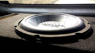 Rebel Audio Subwoofer getting low ! Excursion Test
