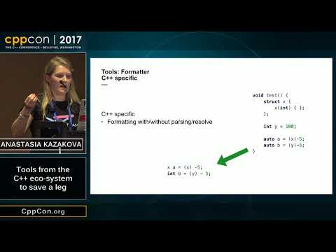 "CppCon 2017: Anastasia Kazakova ""Tools from the C++ eco-system to save a leg"""