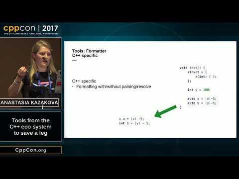 """CppCon 2017: Anastasia Kazakova """"Tools from the C++ eco-system to save a leg"""""""