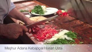 Adana'nın ünlü kebapçısı Hasan Ustadan kebap şov