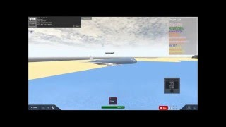 ROBLOX game play (military flight simulator)