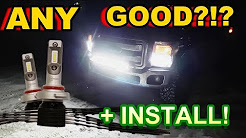 Are L.E.D Headlights WORTH it?!? Any GOOD? F-250 Install && REVIEW
