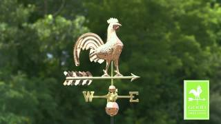 "Good Directions 501p 25"" Rooster Weathervane - Polished Copper"