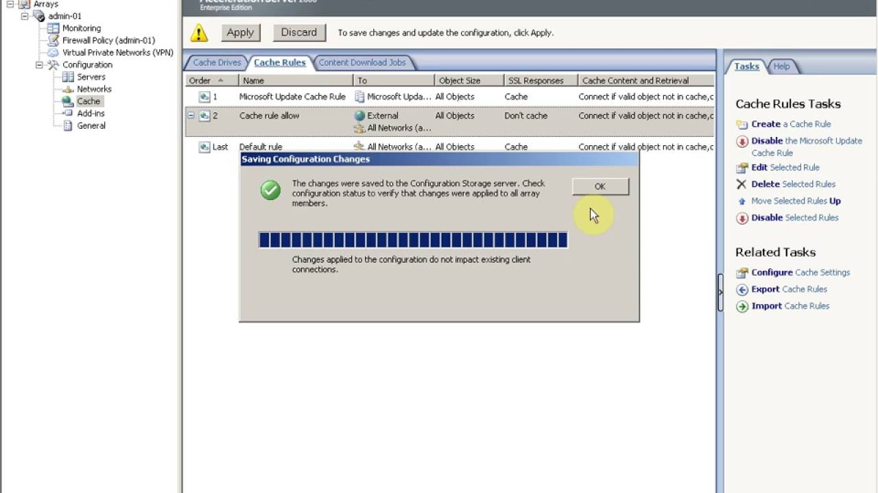 How to Create Cache in ISA Server 2006 Part3