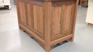 This is my solid oak and cedar blanket chest i built a few years back i thought ide show. Let me know what you think if you would