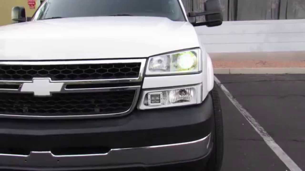 Dodge Led Headlights >> 2006 silverado with morimoto Mini H1's and demon eyes - YouTube