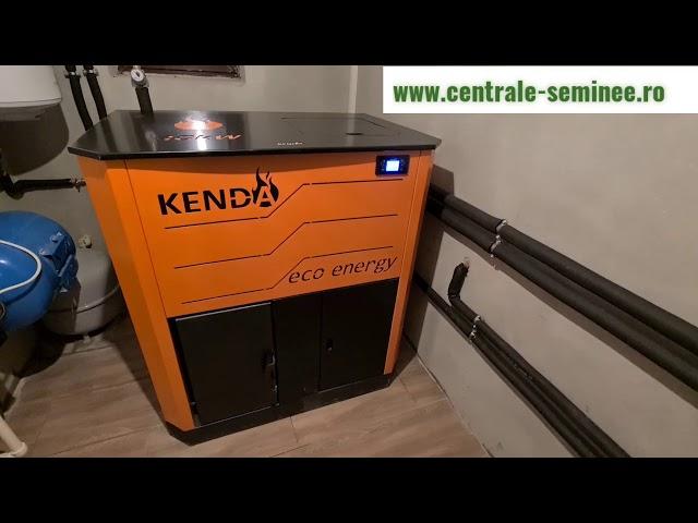 Centrala pe peleti Kenda Ecoenergy 40 kw - Cos inox izolat - Montaj profi - Centrale peleti