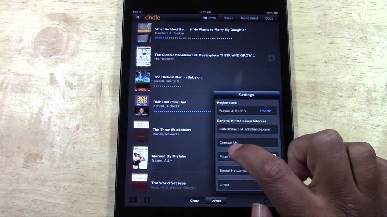 iPad (Mini): How to Turn on Animated Page Turn in the Kindle App |  H2TechVideos