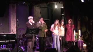 "Darshan (Shir Yaakov & Eprhyme) perform ""Chad Gadya"" at the Downtown Seder ."