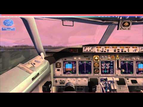 FSX - Amsterdam to London Approach - Emergency landing Mission - TGP