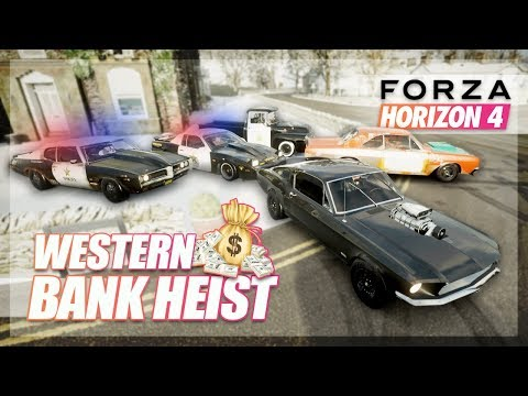 Forza Horizon 4 - Western Bank Heist! (Cops & Robbers Style) thumbnail