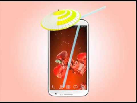 Виджет живые обои сочные фрукты на android
