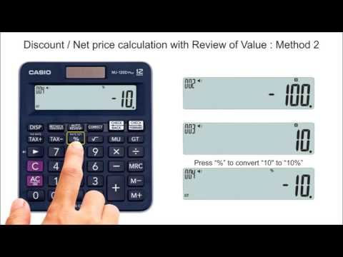 How To Calculate Discount Price Or Net Price On Casio Calculators