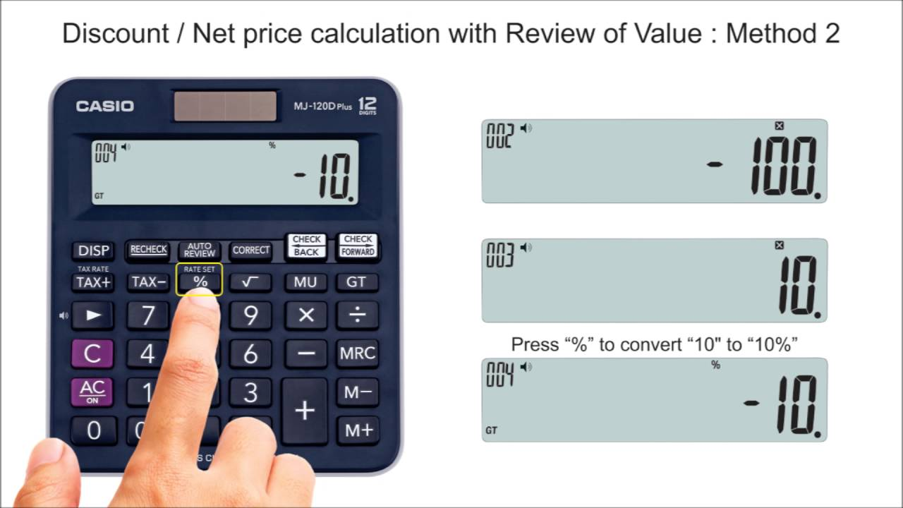 How To Calculate Discount Price Or Net Price On Casio Calculators Youtube