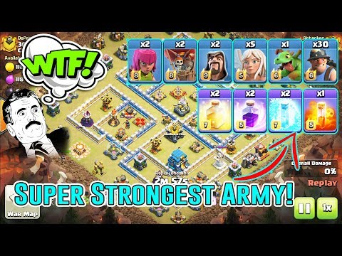 WTF!! SUPER STRONGEST ATTACK - QW+30 MINERS ATTACK STRATEGY SMASH TH12 3-STAR ( Clash Of Clans )