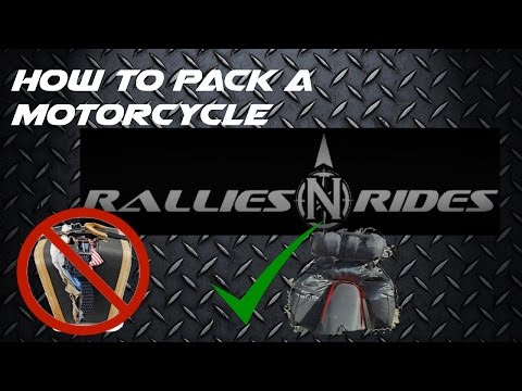 Motorcycle Packing Tips, Learn the secret to maximizing space on your motorcycle