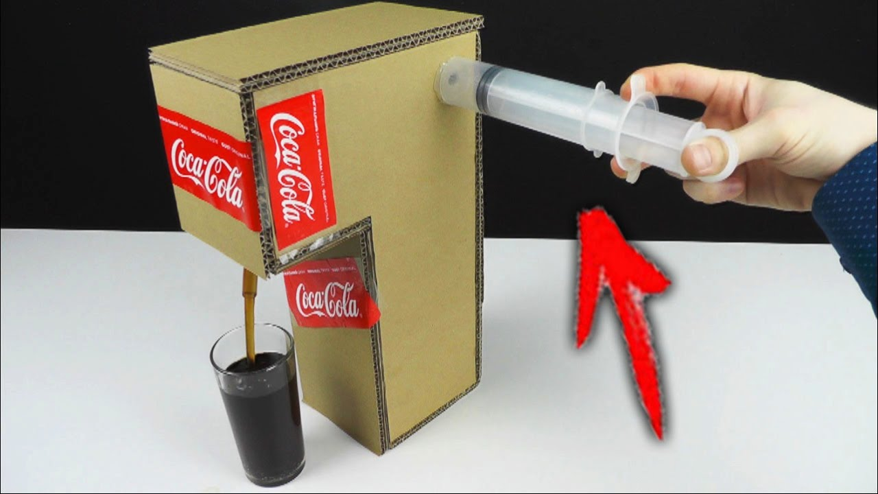 How to Make Coca Cola Fountain Machine Using a SYRINGE at ...