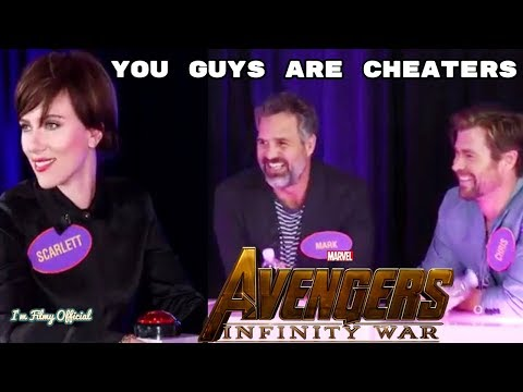 Avengers 4: Endgame Cast Play Family Feud - Try Not To Laugh 2018