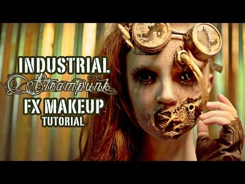 Industrial Steampunk FX Makeup Tutorial - PART 2 APPLICATION
