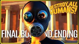 DESTROY ALL HUMANS REMAKE Final Boss and Ending 4K 60FPS