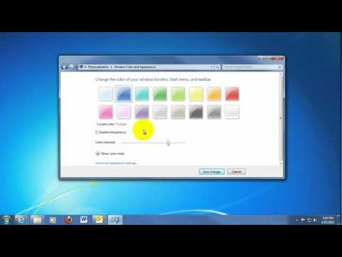 Tech Support: Change Windows Border Colors in Windows 7