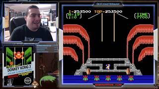 Donkey Kong 3 (NES) - MashPotatoTower Challenge.