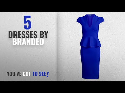 433b8df0825 ... DressLily Women Swan Printed Belted Dress · Top 10 Branded Dresses  2018    Branded Women s Peplum Casual Dress