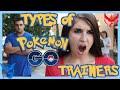 Types of Pokemon GO Trainers