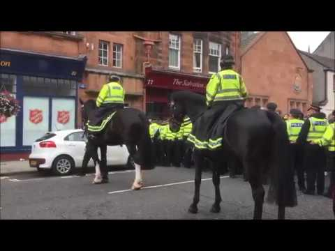 SDL outnumbered by anti fascist protesters and police in Perth