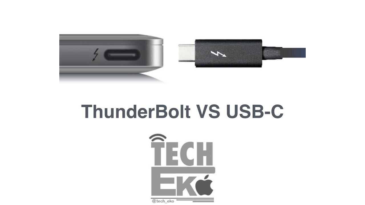الفرق بين تقنية ThunderBolt 3 وتقنية USB-C