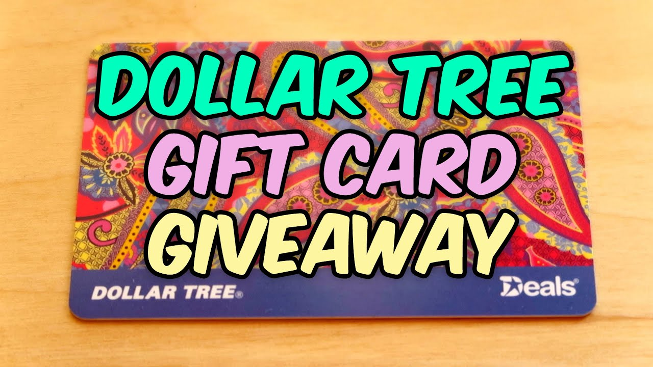Dollar Tree Gift Card Giveaway ☺ 900 Subs! ☺ 100K views ...