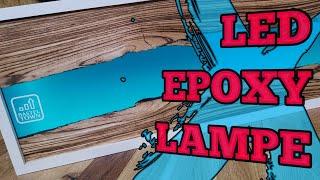 LED Epoxidharz Lampe selber bauen   Epoxy Resin Lamp DIY   Bastel Town