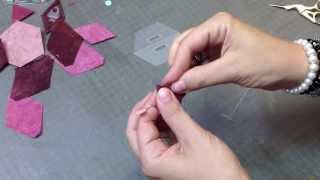 How to make triangle shape with folded rhombus plastic template